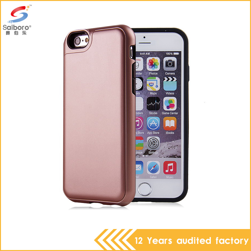 China hot selling products tpu pc Plugging card free mobile phone case back cover for apple iPhone 6 6s