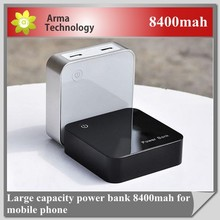 Square Mini 8400mah Portable Power Bank for Mobile Phone/iPhone