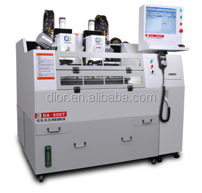 Factory DA-600T 4 axis double two-head high precision high speed glass/acrylic/pc/pet/pvc engraving CNC lathe machine