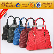 Famous brand name genuine leather womens handbag lady fashion bag