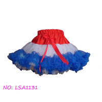 National Day high quality girls fluffy tutu pettiskirt,little girl holiday chiffon dance skirt/petticoat