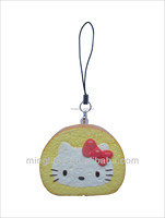 funny promotional gift pu foam keychain