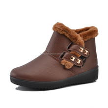 2015 Fashion outdoors walking warm winter snow fur shoes boots men