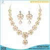 Wholesale fashion model heavy party mother pearl necklace earring set jewelry