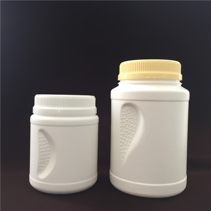 1000cc 2000cc white HDPE plastic side straight Pinch Grip Jar