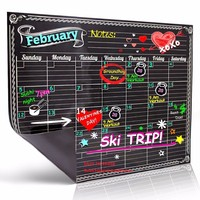 Custom Removable kids Magnetic Paper Blackboard Wall Calendar Planner Monthly Fridge Magnet Chalkboard Stickers