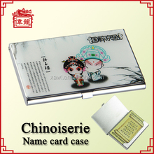 Stainless steel epoxy women business name card holders name card cases TZ925