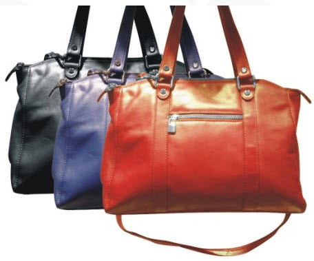 228061 Black, Electric Blue and Red Tote Bag