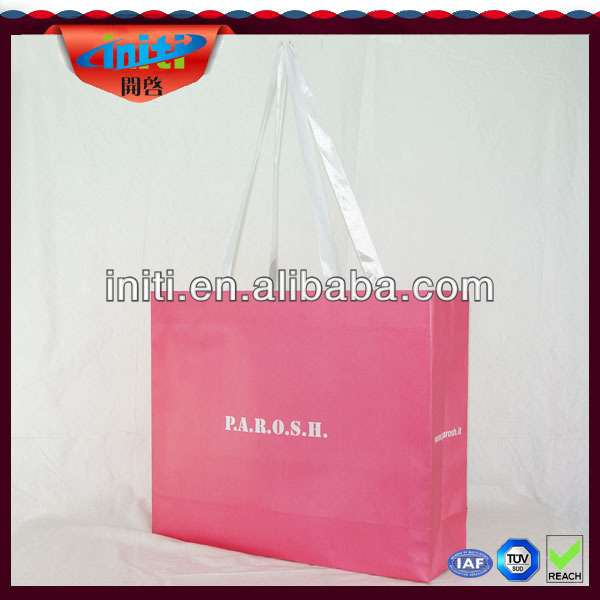 Paper bag with logo print/Women paper bag shopping/Luxury paper shopping bag