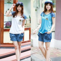 WA5016 Leisure suit women's summer fashion sportswear student piece shorts suit