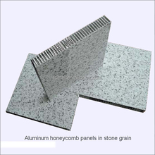 wood/stone grain coated aluminum honeycomb panels for exterior wall cladding