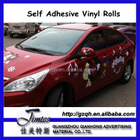 Bubble free Self adhesive grey back vinyl for car body sticker from China manufacturer