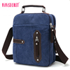 Highest quality blue canvas comely handbags crossbody bag briefcase style tote bag mens messenger satchel bags