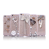 Christmas Gift Luxury Shiny PC Hard Bling Phone Case For Iphone 7 Glitter Diamond Case Cover
