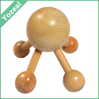 Promotional lovely baby shaped wooden head massager spider
