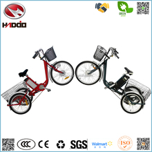 250W 24 inch electric three wheel bike adult big tricycle lithium battery for elder vehicle