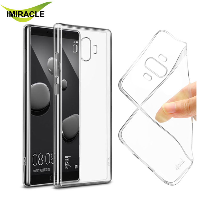 New Imak Slim Clear Crystal Silicone Soft TPU Back Cover For Huawei Mate 10 Case