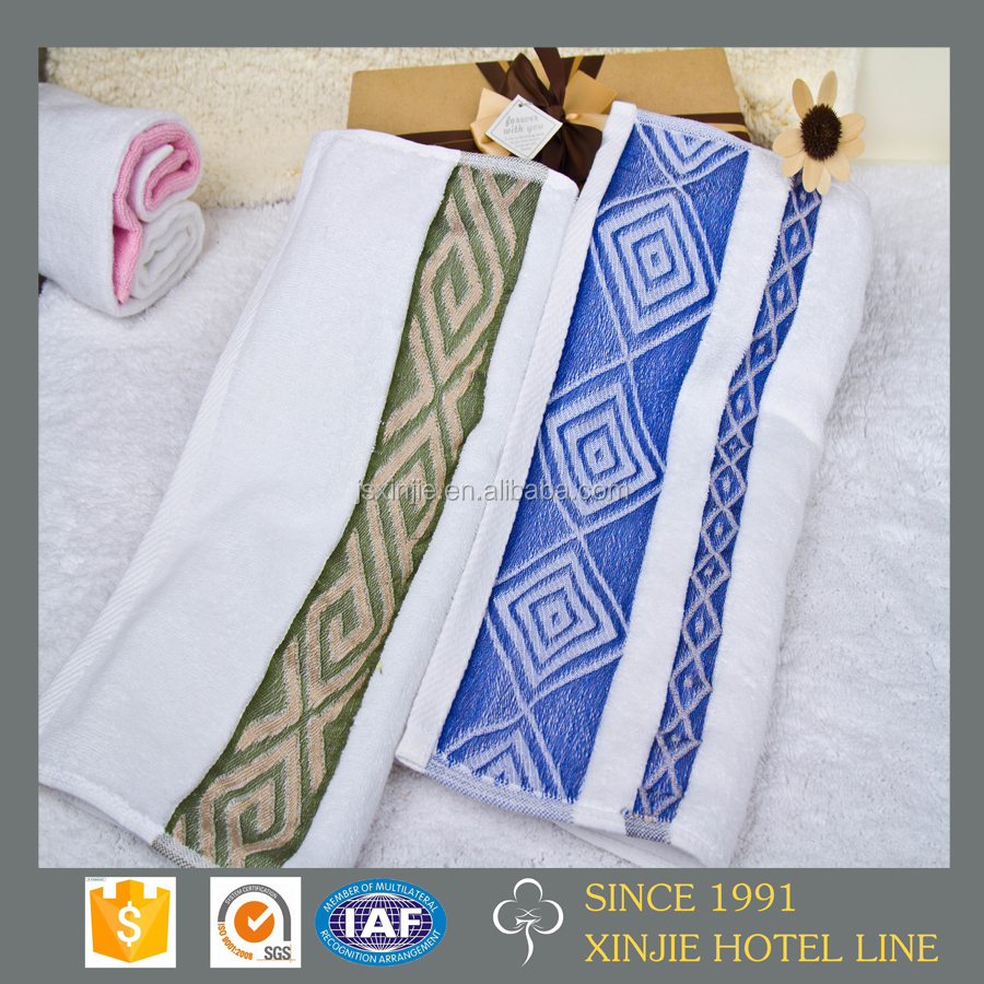 Wholesale superior jacquard terry hand towel with Individually package