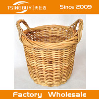 Vintage LARGE French Wicker BAGUETTE BREAD Basket made in China