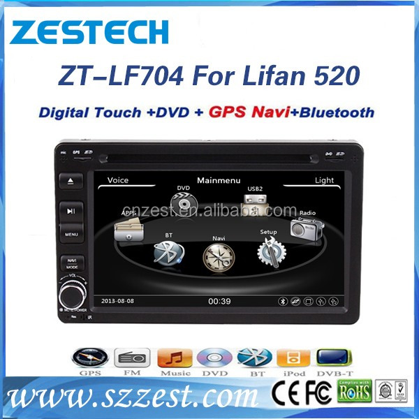 4*50W wince6.0 DVD Radio GPS Multimedia Bluetooth TV system+car dvd vcd cd mp3 mp4 player for Lifan 520