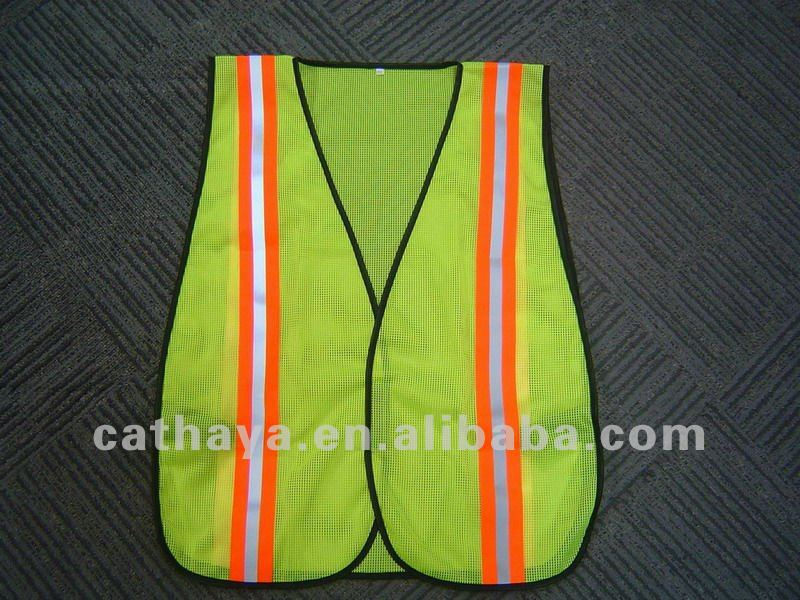 High Visibility Yollow/Orange Reflective Mesh Vest For Road Worker, Firemen, Traffic Police, Drivers, School Kids and Sports