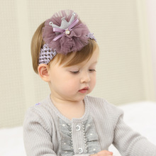 2017 Fashion New Design Kids Headband Flower Laces baby headband for Kids