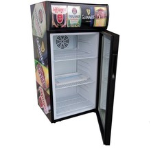 80L glass door display cooler, beer fridge, beer cooler
