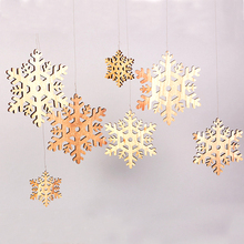 Laser cut wood tag christmas tree decoration for Children