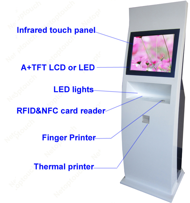 Floor stand Touch screen 22 inch kiosk