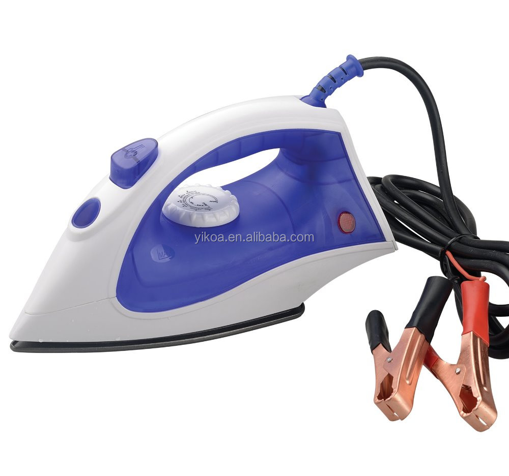 2016 new DC 12v solar steam electric iron