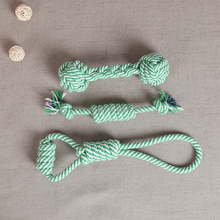 wholesale <strong>pet</strong> three cotton green rope Durable Chew Toy for Dog