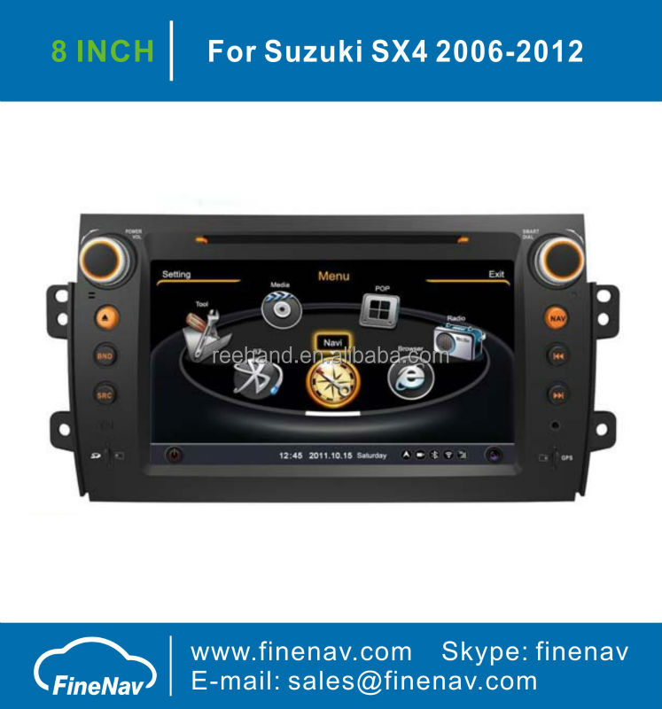 "8"" TFT LCD Screen Car Navigation For SUZUKI SX4 With GPS Navigation A8 Chipset Dual Core 3G Wifi BT Radio Free Map"