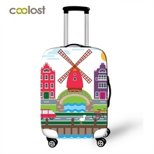 COOLOST NEW Travel Elastic Dust-Proof Luggage Cover Clear Protective Suitcase Protector 18/20/22/24/26/28 inch