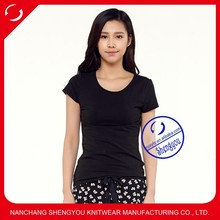 China supplier wholesale custom women cheap blank tshirt no lable