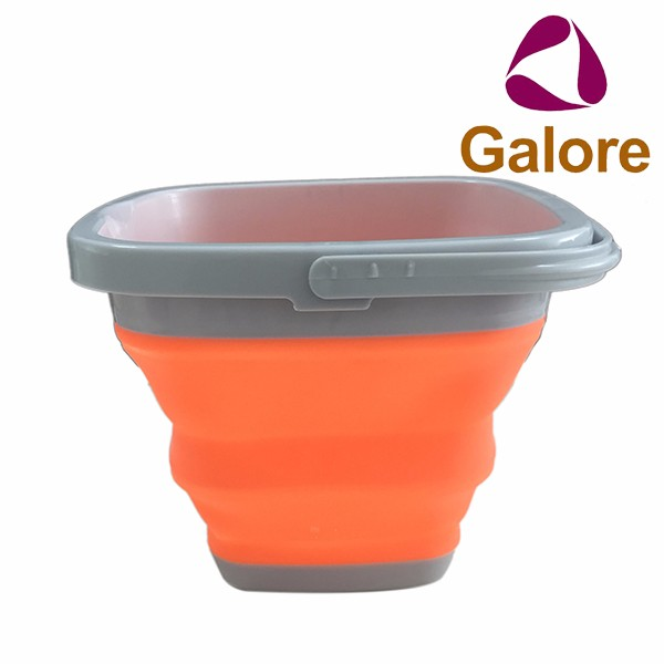 Collapsible Beach Foldable Water Portable Silicone Folding MOP Bucket