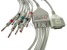 FUKUDA ME KP-500, ECG/EKG cable with 12 leadwire,banana type,TPU material,CE approved