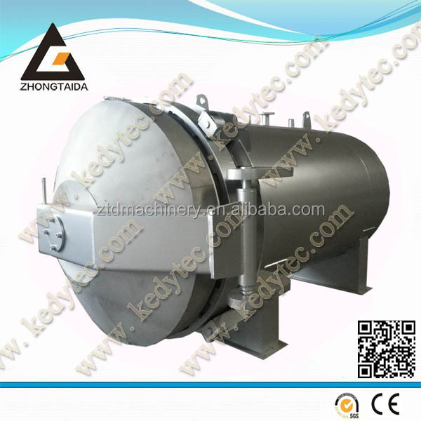 Glass laminated reactor curing autoclave tank process rubber