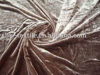 crushed washed silk velvet fabric
