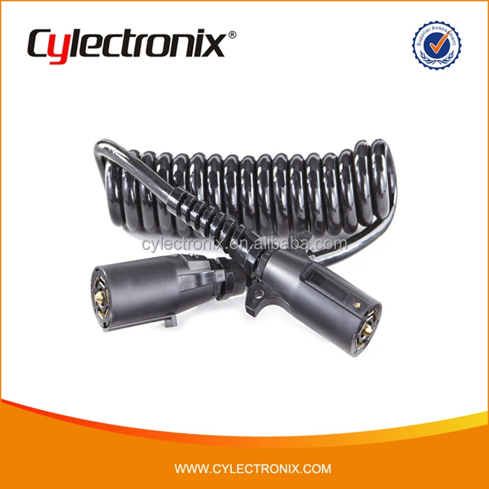Waterproof Trailer Cable/ Trailer Plug With Spring Cable/Trailer Connector Factory