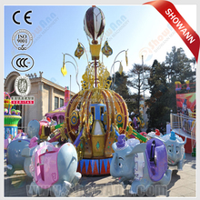 Crazy and stimulate Outdoor playground merry-go-round bees world