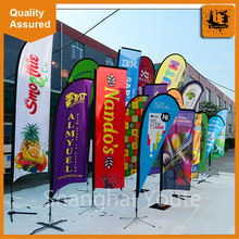 2016 Advertsing flying beach flag banner,teardrop feather flag, blade swooper beach flag