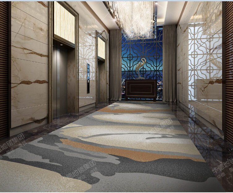 90%polypropylene and 10%wool blend carpet, customized hotel corridor carpet,stair