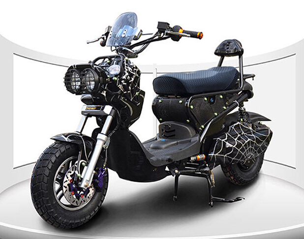 1500W Electric Adult Motorbike Two Seats Scooter 60V Battery Sports Pedal Motorcycle