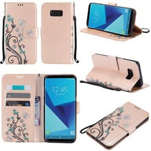Wholesale Wallet Flip PU Leather Two Mobile Phones Leather Case For Galaxy S8 With Beautiful Design Mobile Phone Cases For Girls