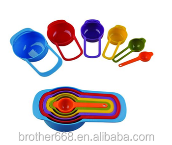 Cheap 6 pcs Colorful PP Measuring Spoons set
