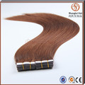 Factory wholesale virgin remy human hair double drawn tape hair extensions