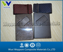 Twill business card holder money clip, carbon fiber money clip