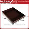 NAHAM Unique design desk faux leather file serving tray