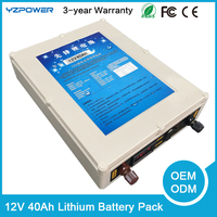 12V 40Ah 60mAh Rechargeable Lithium Battery Modules Pack