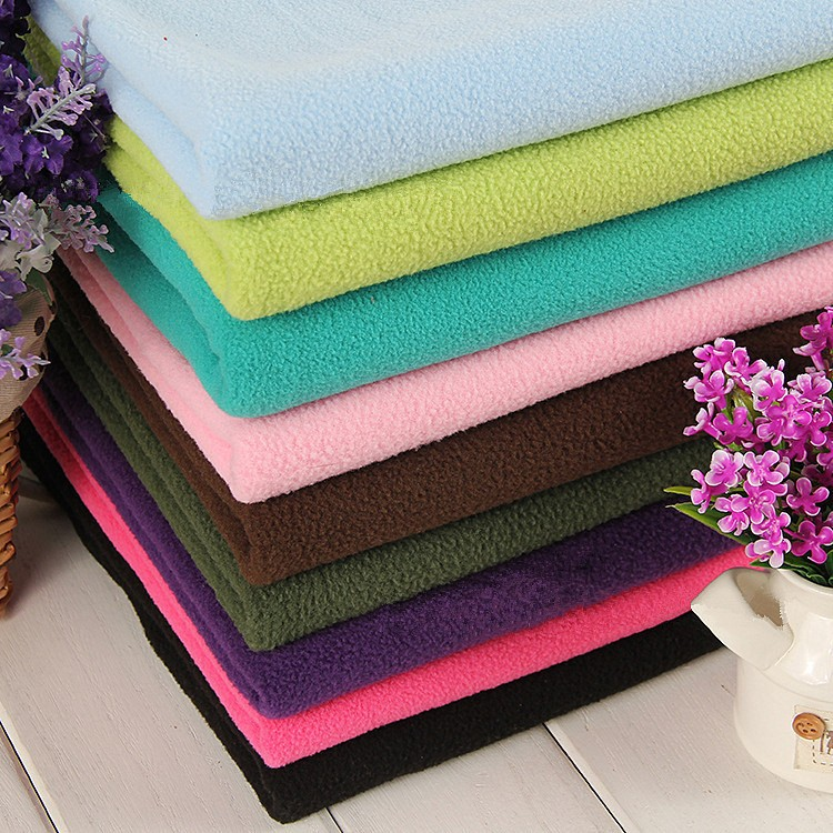 Manufacturers produce garment fabric anti-pilling micro polar fleece